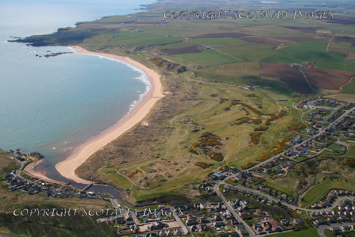 Aerial photography Scotland Cruden Bay Golf links