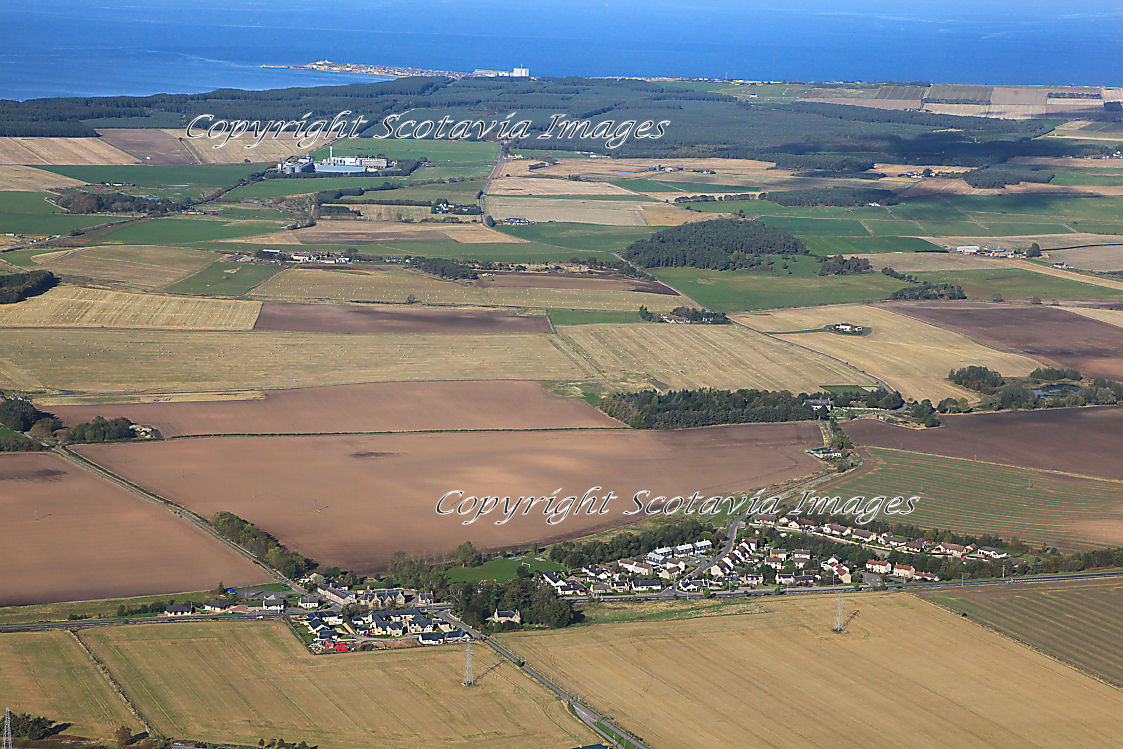 Aerial photography Scotland  Alves Moray