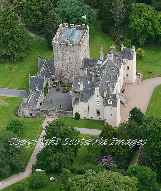 Aerial photography Scotland Drum Castle Aberdeenshire