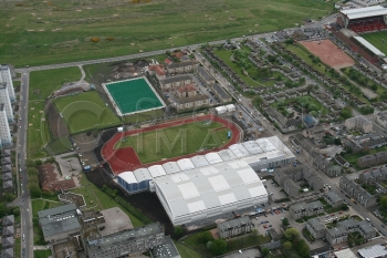 Aerial photography Scotland sports village aberdeen