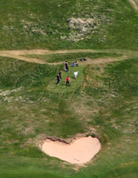 aerial photography scotland golfers