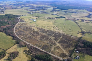 aerial photography scotland scottish scenery culloden battlefield