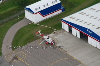 Aerial photography Scotland Coastguard S61 G-BDOC Aberdeen July 08