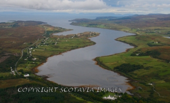 Aerial photography Scotland  Berniesdale Isle of skye