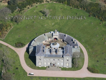 Aerial photography Scotland Cairness House Buchan