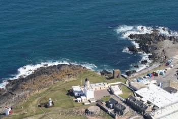 Aerial photography Scotland Scottish scenery Fraserburgh lighthouse museum and castle
