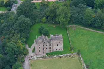 Aerial photography Scotland Huntingtower castle Perth