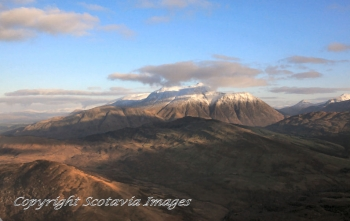 Scottish scenery Ben Nevis from the West