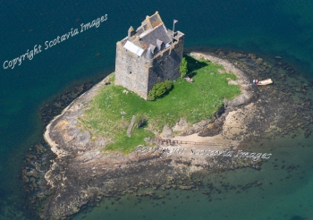 Scottish Castle  Aerial photography Scotland Castle Stalker