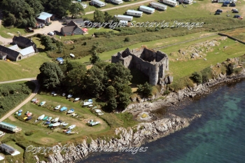 Aerial photography Scotland Castle Sween