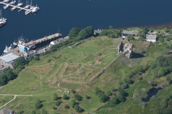 Aerial photography Scotland Tarbert castle