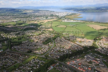 aerial photography scotland scottish scenery Inverness Westhill