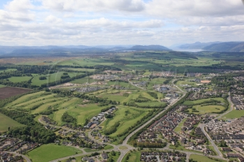 aerial photography scotland scottish scenery Inverness Loch Ness Golf Course