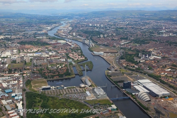 Aerial photography Scotland Glasgow