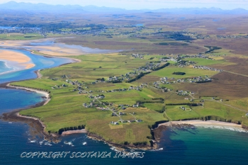 Aerial photography Scotland Scottish scenery Aird Thunga Stornoway