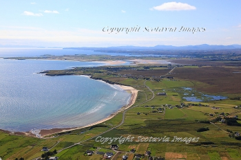 Aerial photography Scotland Scottish scenery Coll Sands Isle of Lewis