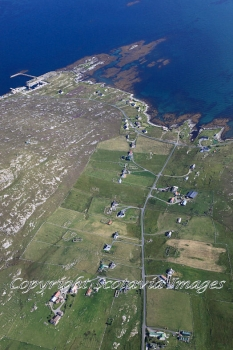 Aerial photography Scotland Scottish scenery Borgh on Berneray