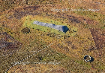 Aerial photography Scotland Camster cairn Caithness
