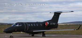 Aerial photography Scotland Embraer Phenom OY-PWO at Inverness