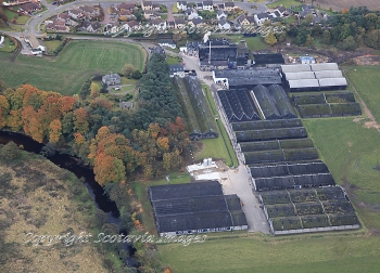 Aerial photography Scotland Glen Moray distillery Elgin