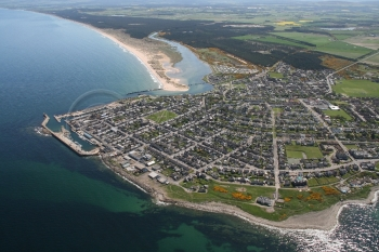 Lossiemouth town aerial from East,scenery