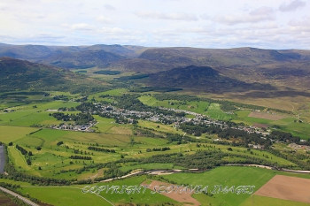 scottish scenery,newtonmore,golf,course,aerial
