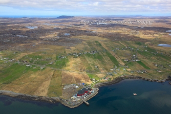 Aerial photography Scotland Breascleit Outer Hebrides Isle of Lewis