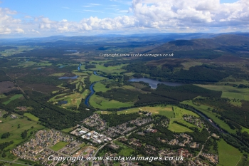 Scottish scenery ,Aerial photography Scotland,River Spey