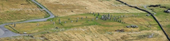 Aerial photography Scotland Callanish  Standing stones Isle of Lewis