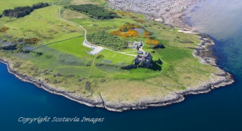 Scottish Castle Duart Castle Isle of Mull Aerial photography Scotland