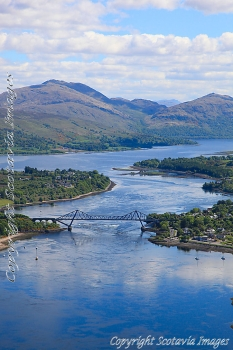 Aerial photography Scotland Connel Loch etive