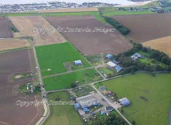 Aerial photography Scotland  East Haven airfield site