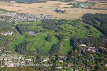 Aerial photography Scotland  Forres Golf course