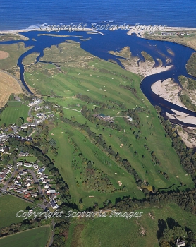 Aerial photography Scotland  Garmouth Kingston Golf course