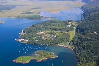 Aerial photography Scotland Scottish scenery Crinan