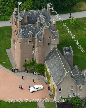 Aerial photography Scotland  Crathes Castle  June 2008 wedding