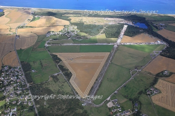 Aerial photography Scotland Dallachy airfield