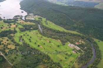 Aerial photography Scotland Taymouth golf course