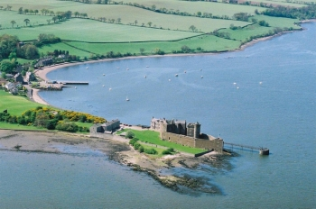 Aerial photography Scotland  Blackness castle